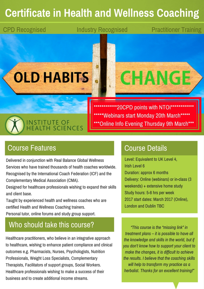 Ihs Certificate In Health And Wellness Coaching Ntoi