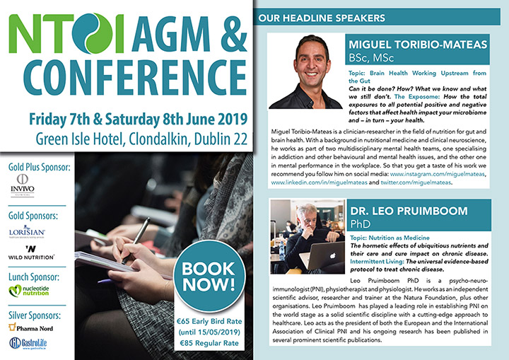 NTOI AGM and Conference 2019 – Fri. 7th and Sat. 8th June