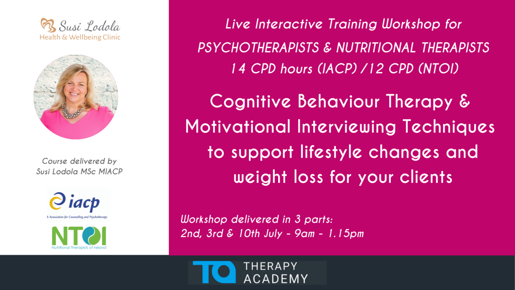 Cognitive Behaviour Therapy & Motivational Interviewing Techniques to Support Lifestyle and Weight Loss Changes