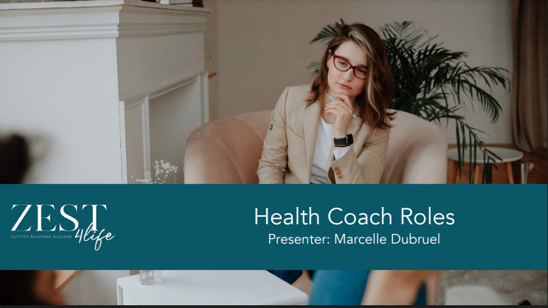 Zest4life Health Coaching Skills for Nutrition Professionals